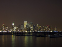 Manhattan skyline, night