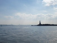 Statue of Liberty with George Washington Bridge