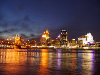 Cincinnati skyline by twilight