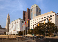Columbus skyline, with the state courthouse