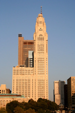 Leveque Tower from across the Scioto River