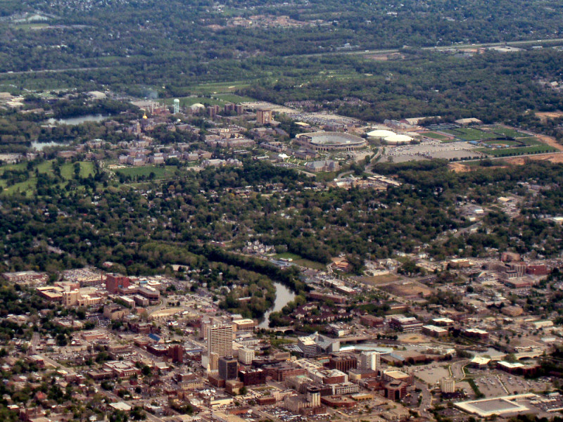 Notre Dame campus and South Bend