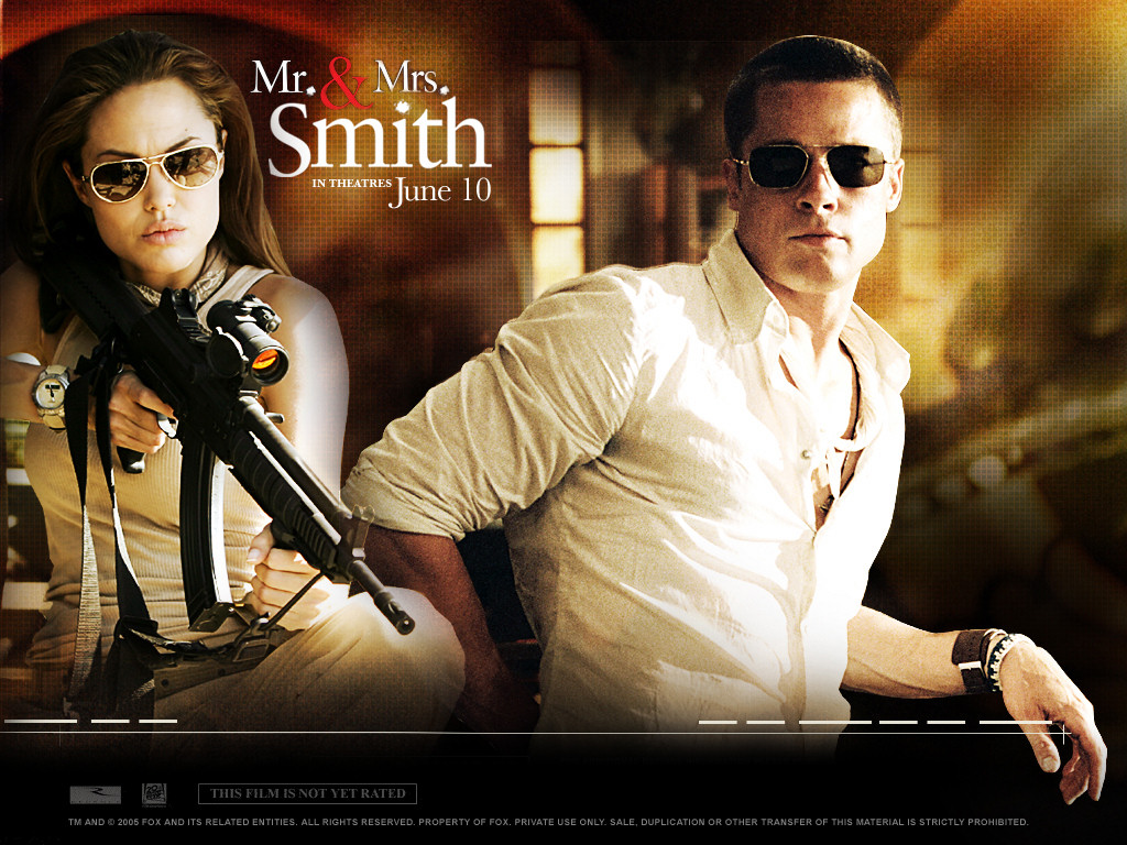 Actors Mr and Mrs Smith, one of the best films of 2005 43