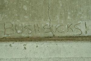 Bush sucks graffiti