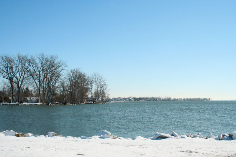 country winter lake