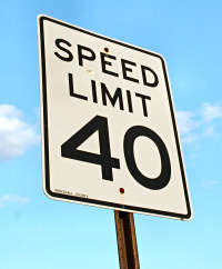 Speed limit 40