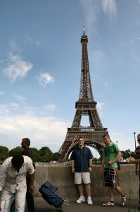 Derek with Eiffel Tower